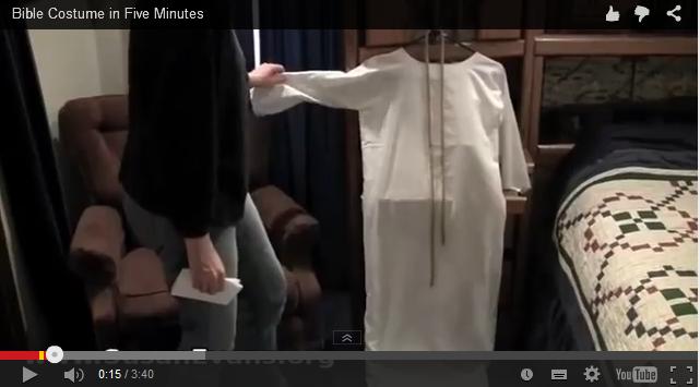 """איך להכין תחפושת תנכי""""ת מסדין לבן"""